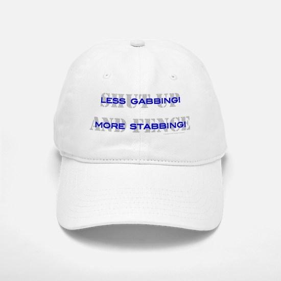 3-gabbing-1 Baseball Baseball Cap