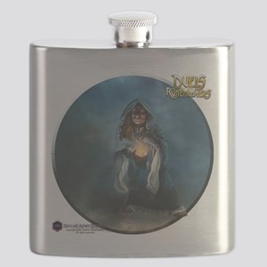 Female Dwarven Wizard - Shirt Flask