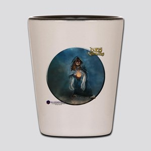 Female Dwarven Wizard - Shirt Shot Glass