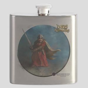 Dwarven Warrior Female - Shirt Flask