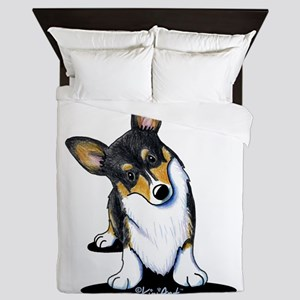 KiniArt Tricolor Corgi Queen Duvet