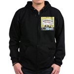 Veggy Turkeys Zip Hoodie (dark)