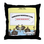 Veggy Turkeys Throw Pillow