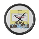 Veggy Turkeys Large Wall Clock
