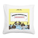 Veggy Turkeys Square Canvas Pillow