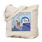 Shark Bedtime Story Tote Bag