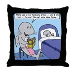 Shark Bedtime Story Throw Pillow