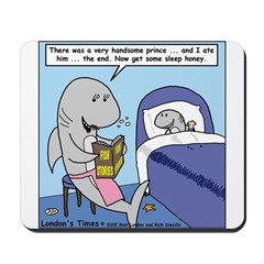Shark Bedtime Story Mousepad