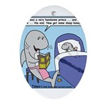 Shark Bedtime Story Ornament (Oval)