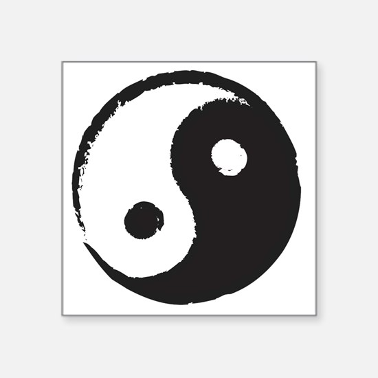 """YingYang Square Sticker 3"""" x 3"""""""