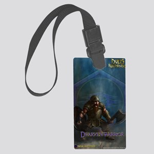 Dwarf Warrior Male Journal Large Luggage Tag