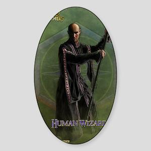 Human Wizard Male Journal Sticker (Oval)