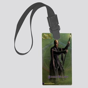 Human Wizard Male Journal Large Luggage Tag