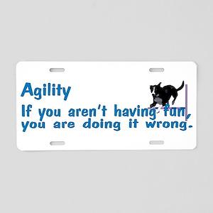 Agility Having Fun Aluminum License Plate