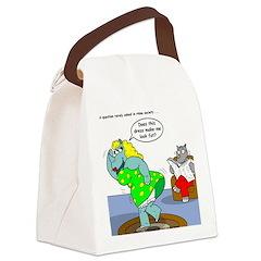 Rhino Dress Canvas Lunch Bag