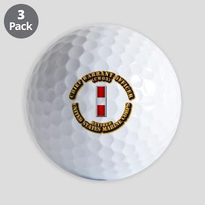 USMC - CW3 - Retired Golf Balls