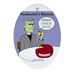 Frankensteins Muenster Ornament (Oval)