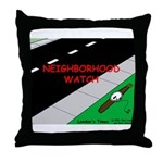 Neighborhood Watch Throw Pillow