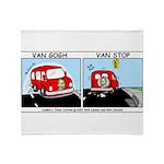 Van Gogh Van Stop Throw Blanket