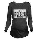 Rock Star In Taiwan Long Sleeve Maternity T-Shirt