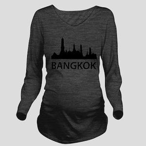 Bangkok Skyline Long Sleeve Maternity T-Shirt