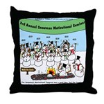 Snowman Seminar Throw Pillow
