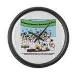 Snowman Seminar Large Wall Clock