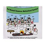 Snowman Seminar Throw Blanket