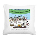 Snowman Seminar Square Canvas Pillow