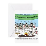 Snowman Seminar Greeting Card