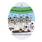 Snowman Seminar Ornament (Oval)