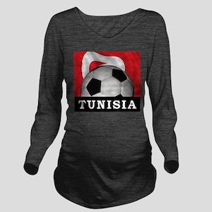 Tunisia Football Long Sleeve Maternity T-Shirt