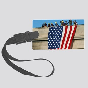 2-Pentagon 9 11 Flag Cap Large Luggage Tag