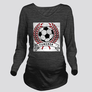 Soccer Tunisia Long Sleeve Maternity T-Shirt