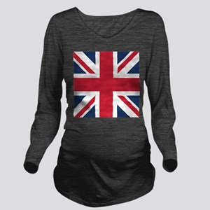 Classic Union Jack Long Sleeve Maternity T-Shirt