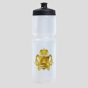 Gold Football Uruguay Sports Bottle