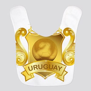 Gold Football Uruguay Bib