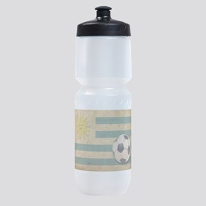 Vintage Uruguay Football Sports Bottle