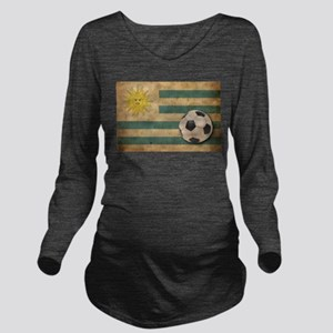 Vintage Uruguay Football Long Sleeve Maternity T-S
