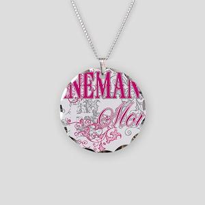 linemans mom black shirt wit Necklace Circle Charm