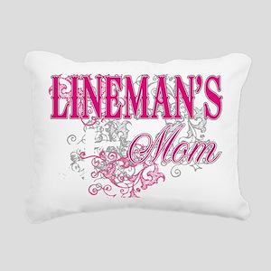 linemans mom black shirt Rectangular Canvas Pillow