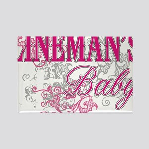 linemans baby black shirt with po Rectangle Magnet