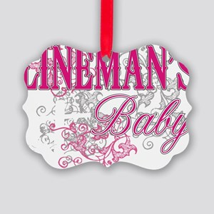linemans baby black shirt with po Picture Ornament