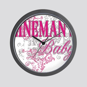 linemans baby black shirt with pole Wall Clock