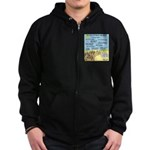 Days of Whine and Moses Zip Hoodie (dark)