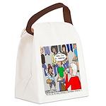 Ventriloquism School Canvas Lunch Bag