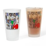 Ventriloquism School Drinking Glass