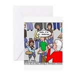 Ventriloquism School Greeting Card