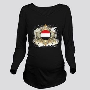 Stylish Yemen Long Sleeve Maternity T-Shirt