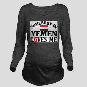 Somebody In Yemen Long Sleeve Maternity T-Shirt